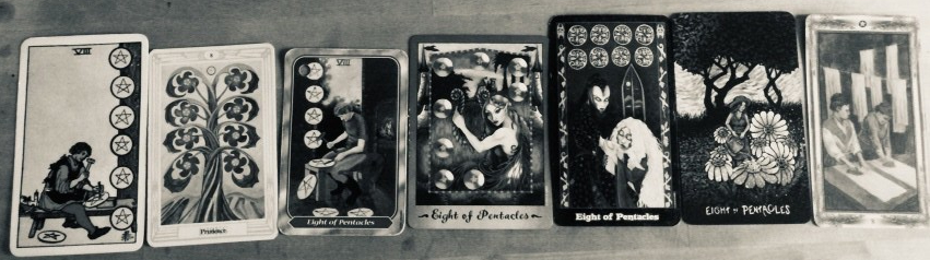 Daily Reading: Eight of Pentacles – Karma Star Tarot